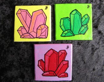 Small Crystal Clusters Paintings