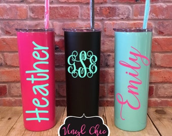 Stainless Steel tumblers, Monogrammed tumbler, monogrammed water bottle, personalized Tumbler, personalized water bottle, custom gift