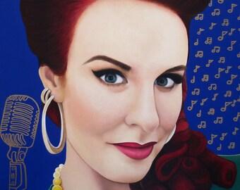 True Beauty - Tia Brazda  -  By Toronto Portrait Artist Malinda Prud'homme