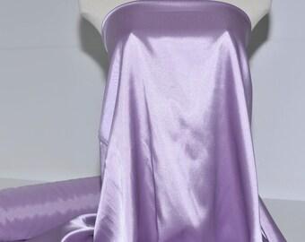 "Stretch Satin Lilac Purple  fabric 60"" wide...bridal, lingerie , home decor, pajama's, sleep wear, formal wear"