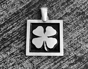 925 Sterling Silver FourLeaf Clover Charm/Pendant