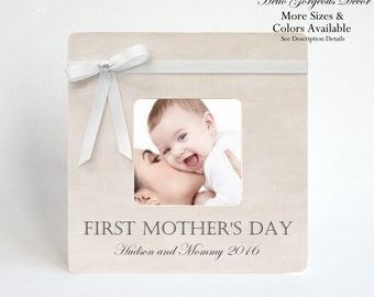 Mother's Day Gift FIRST MOTHER'S DAY Picture Frame To Mom Personalized from Baby Daughter Son New Mum Mommy Custom Photo Frame Present Ideas