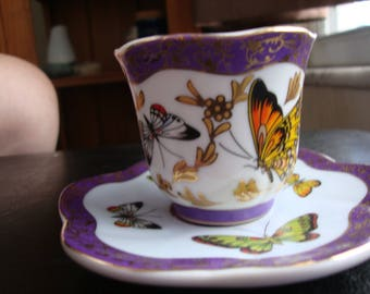 Demitasse Butterfly Cup and Saucer