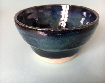 Handmade Ceramic Bowl / Pottery Bowl / Green and Blue Bowl / Dipping Bowl/ Al Fresco Dining / Party Food Server/