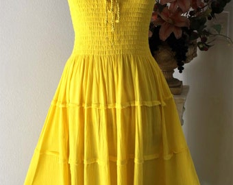 Sweetheart Dress, One Size, Cotton Gauze, Boho,LagenLook,Beach,Party,HipHop,Travelling. One Size fits US -10 to 16