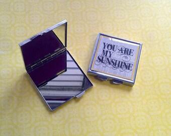 Custom Photo Mirror Compact Square