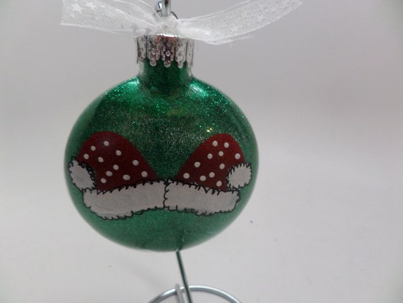 Hand Painted Santa Hat Christmas Ornament Personalized Free