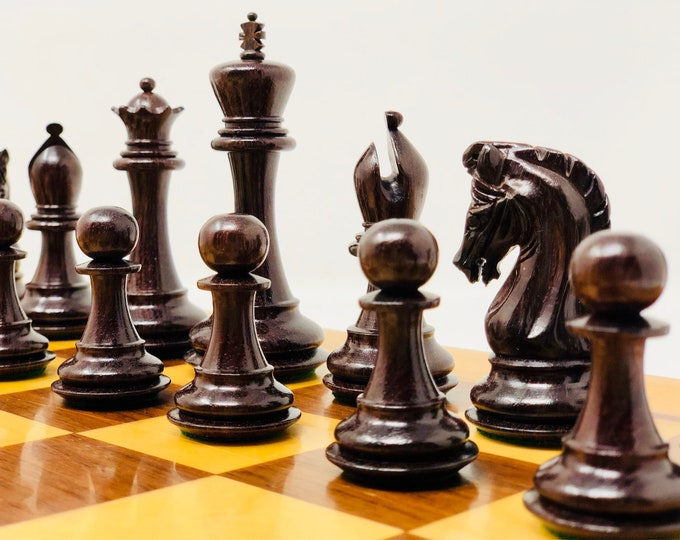 Featured listing image: Sinquefield Rosewood chess with board.