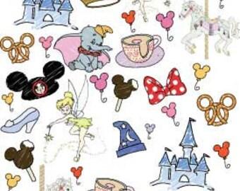 PRE-ORDER Disney World Favorite Things Doodle Fabric