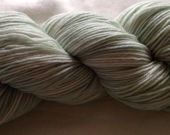 Hand dyed sparkle sock yarn 100g merino / nylon / stellina in Frosted Mint colourway