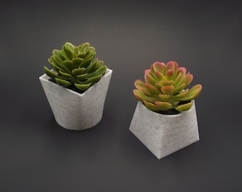 Modern Succulent Pot, Mini Desk Planter, Set