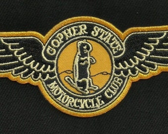 Vintage Style Circa 1945 - 60s Repro GOPHER STATE Biker Patch