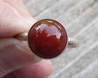 Karneol Sterlingsilber Ring Größe 10