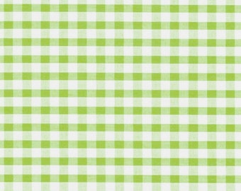 Carly APPLE GREEN Mini Checkered Gingham Poly Cotton Fabric by the Yard - 10114