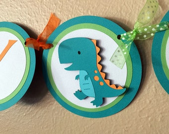 Dinosaur Party Banner, Dinosaur Birthday Party Banner, Dinosaur Party Decoration, Dinosaur Baby Shower, TRex Banner, Dinosaur 1st Birthday