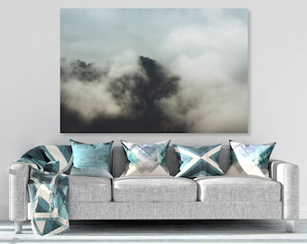 """large canvas wall art, large wall art, large colorful landscape wall art, landscape on canvas, large art, mountains, nature - """"All at Once"""""""