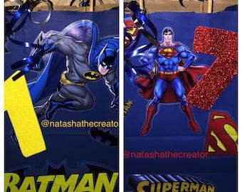 Batman Vs Superman party favor bags, party decorations, party favors