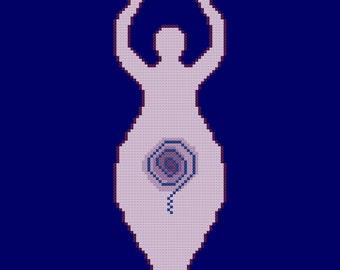Goddess Cross Stitch Pattern PDF Digital Download
