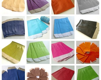 50 pockets 7 cm * 11 cm Kraft gift bags