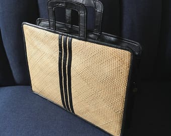 60's Rattan Handbag