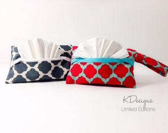 Pocket Tissue Holder - Tissue Box Cover - stocking stuffers - holder -Pocket Tissue cover - Tissue Cover - Travel tissue holder