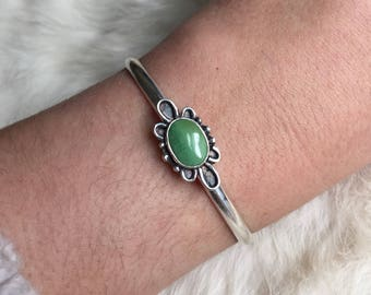 Royston Turquoise and Sterling Silver Cuff Bracelet