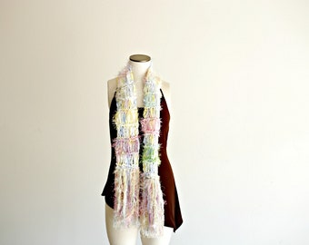 Pastel Scarf, Lightweight Knit Women Scarf Spring Scarf Wife Gift Wife Pink, White, Blue, Yellow, Green
