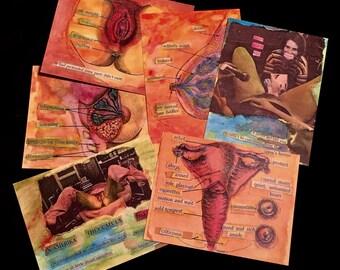 Feminist Watercolor Postcard Set