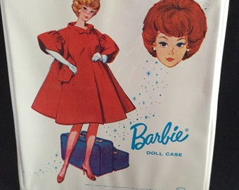 Vintage Barbie Doll White Case/ 1963 Mattel Bubble-Cut 1963 Barbie/ 1963 White Silken Flame Barbie Doll Case - Vintage Barbie Case