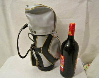 Wine Tote, Vintage Wine Tote, Golf Bag Theme Wine Tote