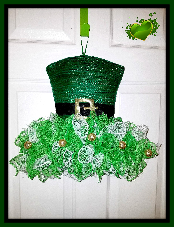 St patricks day wreath irish decor st patricks day decor zoom negle Images