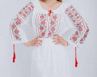 Women's  dress with traditional embroidery