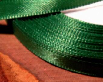 10 M 6 mm - SA1 grass green satin ribbon