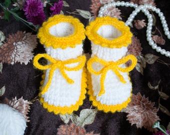 Baby Booties - Yellow
