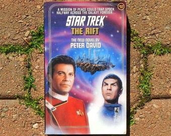 Star Trek The Rift Vintage Paperback Book Novel by Peter David 1991 Edition