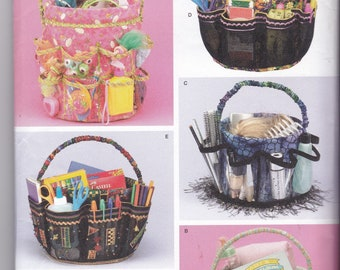BUCKET COVER PATTERN  for Sewing Toy Carrier Sewing Implement Carrier Art Supplies Carrier Hair Supplies or Baby Supplies Carrier