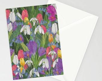 Spring Flowers a6 greetings card