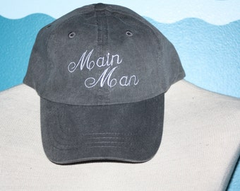 Main Man Baseball cap - wedding party baseball hat - embroidery baseball cap - wedding shower gift - team bride - Bachelorette  party
