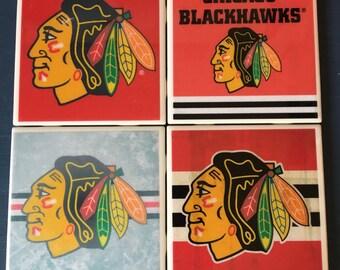 Chicago Blackhawks coaster set