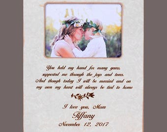 Personalized Mother Daughter Gift-Bride Gift to Mom-Wedding Gift to Mother- Personalized Wedding Picture Frame- Mother Bride Wedding Gift
