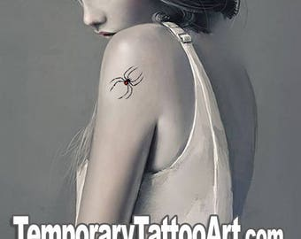 Temporary tattoos Spider - 2x2 inch