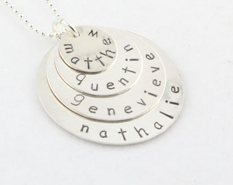 Sterling Silver Necklace - Personalized Necklace - Custom Necklace - Mother's Day Gift for Mom - Gift For Grandma