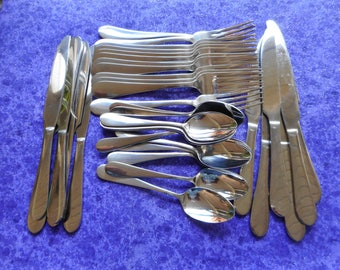 Stainless steel flatware by Mikasa