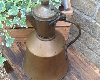 Vintage, Copper Kettle/Coffee Pot, Rustic, Display, Kitchenalia, Prop