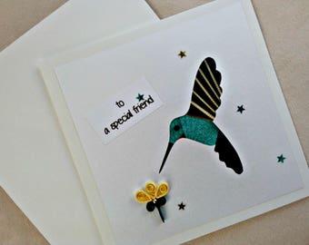 handmade iris fold   card – to a special friend