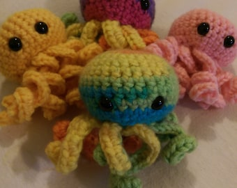 Crochet Octopus - Custom Colour Amigurumi Sea Creature - Octopus Toy