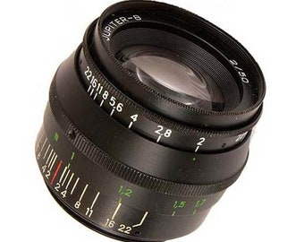 Jupiter-8 50mm F2 Lens black for M39