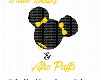 Hairbows & Afro Puffs SVG DXF PNG and Eps Cutting Files for Cutting Machines for Explore Machines or Cameo