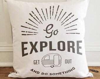 Go Explore Pillow Cover