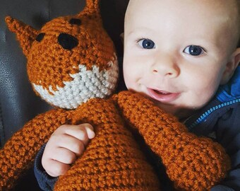 Fox Stuffed Animal. Amigurami. Stuffed Toy.